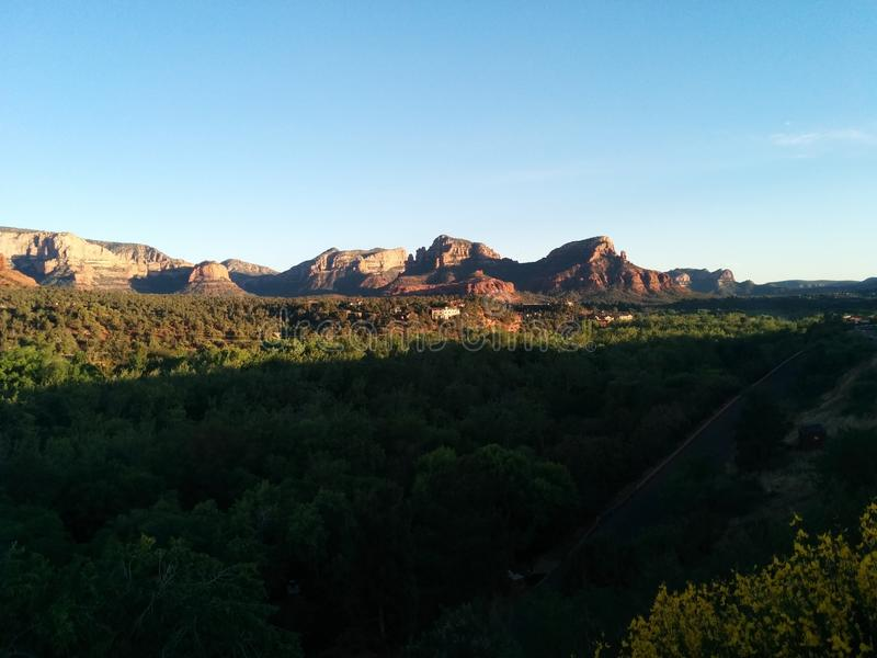 Sedona at sunset with deep shadows royalty free stock images