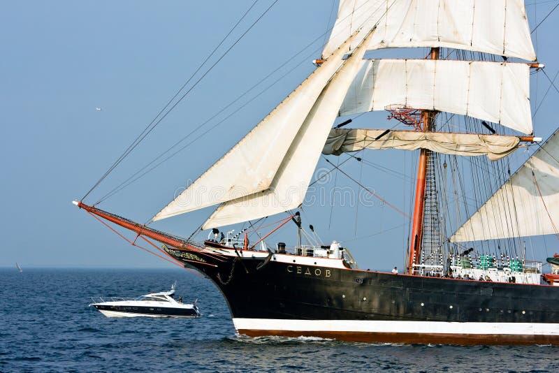 Download Sedov - tall ship editorial stock image. Image of sailing - 21163429