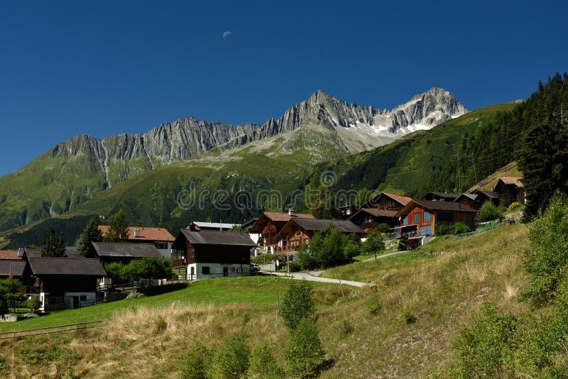 Sedrun, Surselva, Switzerland stock photography