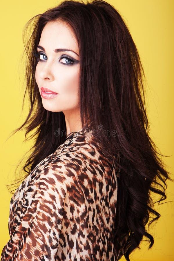 Seductive beautiful woman royalty free stock image