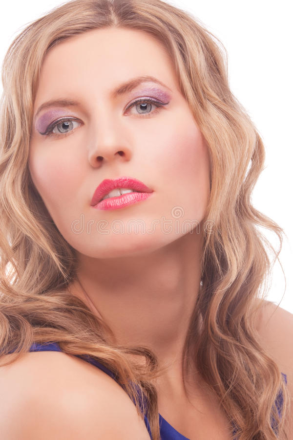 Download Seductive Blonde Woman With Bright Makeup Stock Image - Image: 24054693