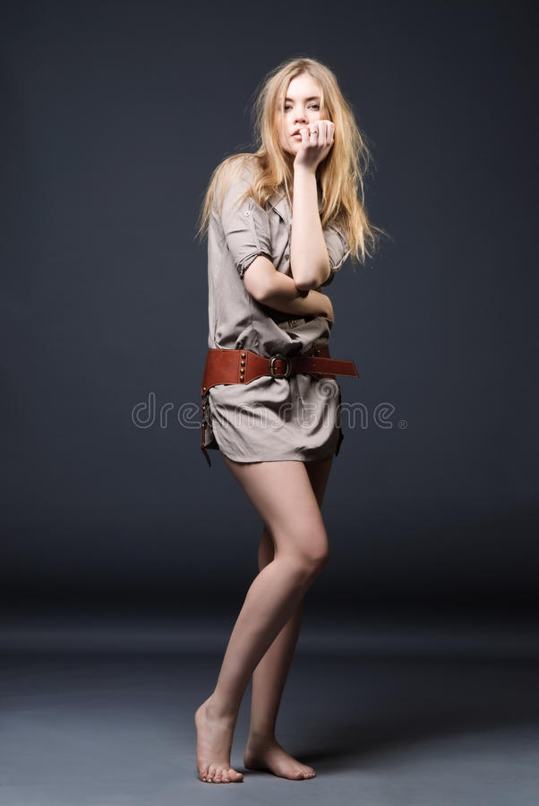 Download Seductive Fashion Portrait Of Young Woman Stock Image - Image: 14386881