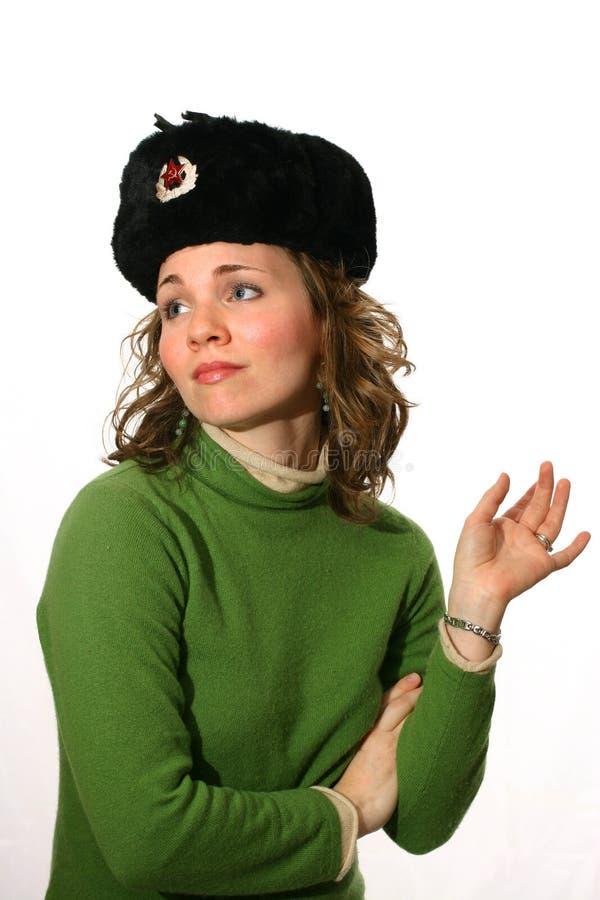 Seductive Female Russian Agent Stock Photography