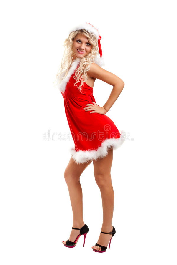Seductive Santa Helper Stock Photography