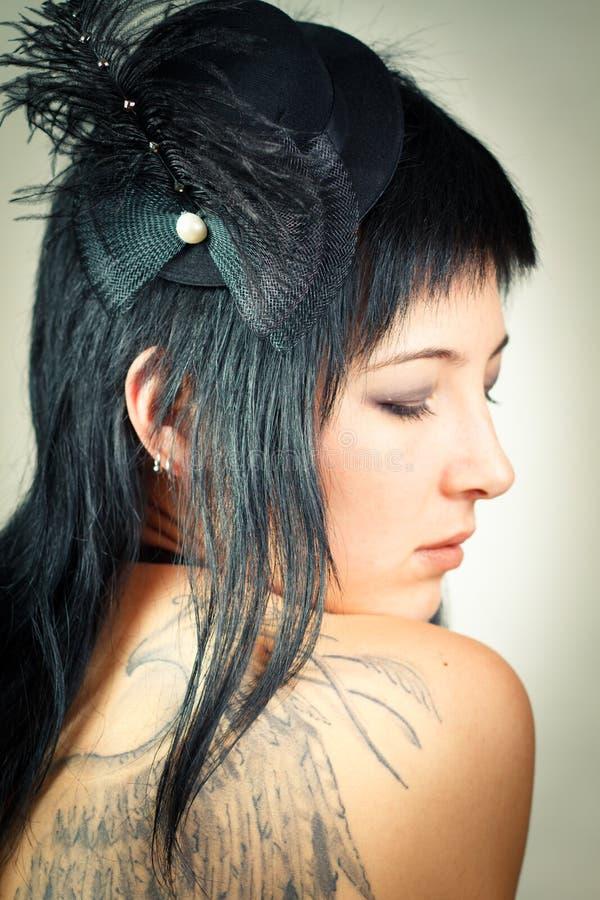 Seductive woman. Seductive women bowed her head to shoulder stock photography