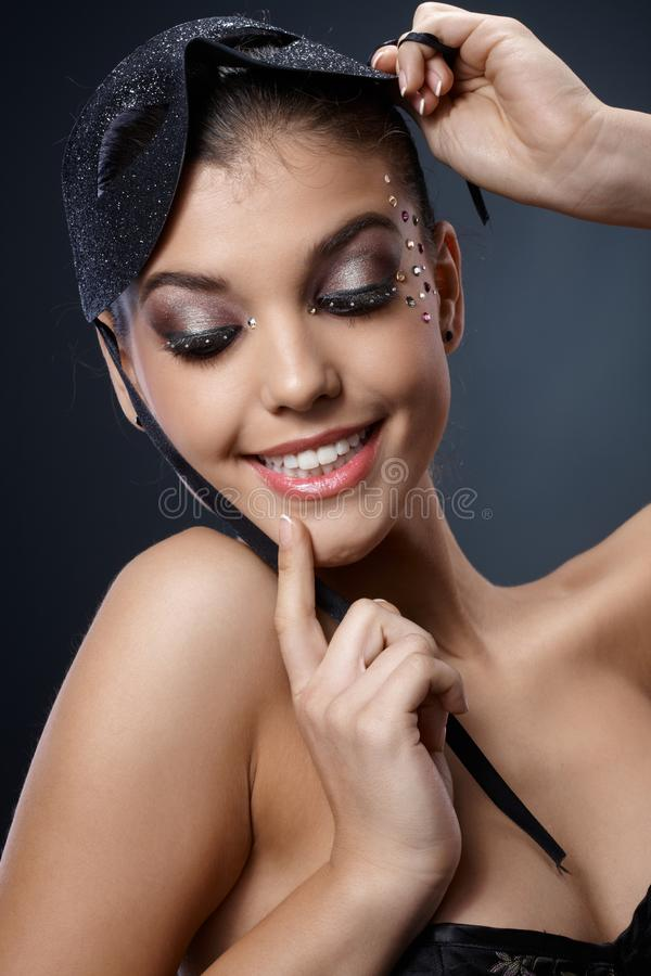 Seductive Woman In Carnival Mask Stock Photography