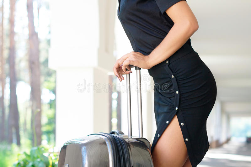 Download Seductive Women With Luggage Stock Photo - Image of closeup, recreation: 20934982