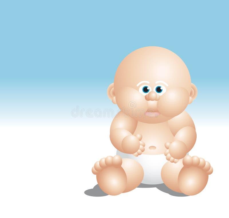 Seduta bianca del neonato fotografia stock