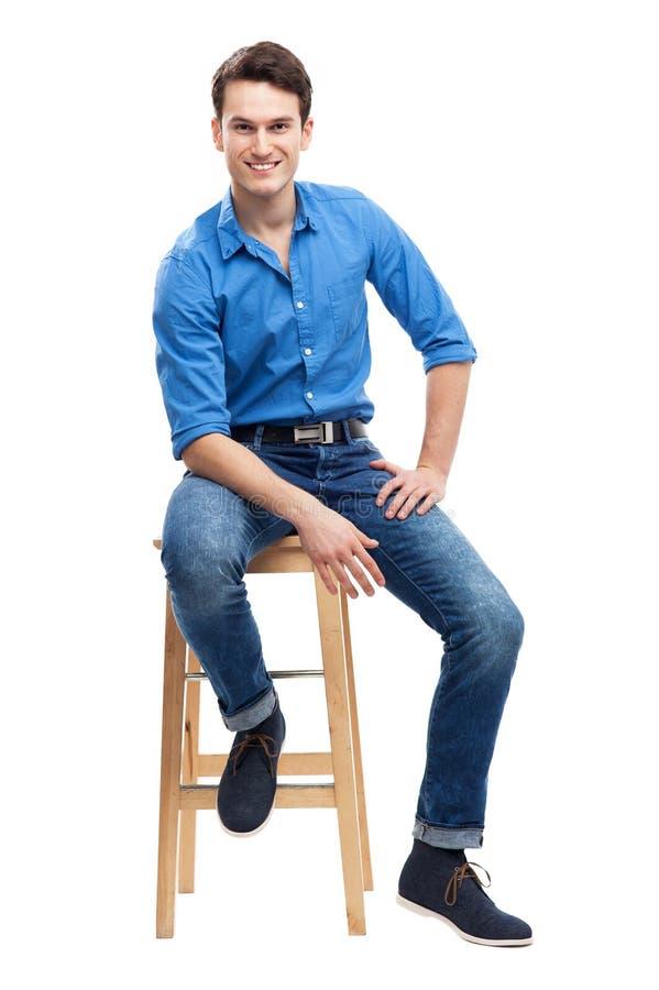 Seduta Casuale Dell Uomo Immagini Stock