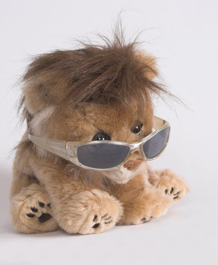 Seduta del leone fotografie stock