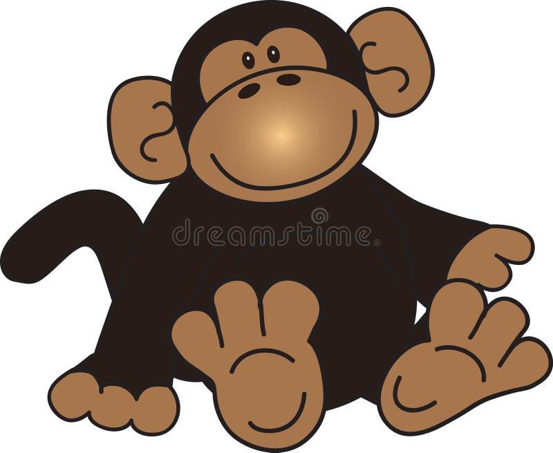 Seduta della scimmia royalty illustrazione gratis