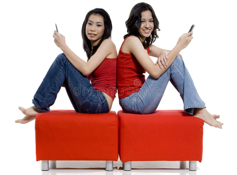 Seduta insieme immagini stock libere da diritti