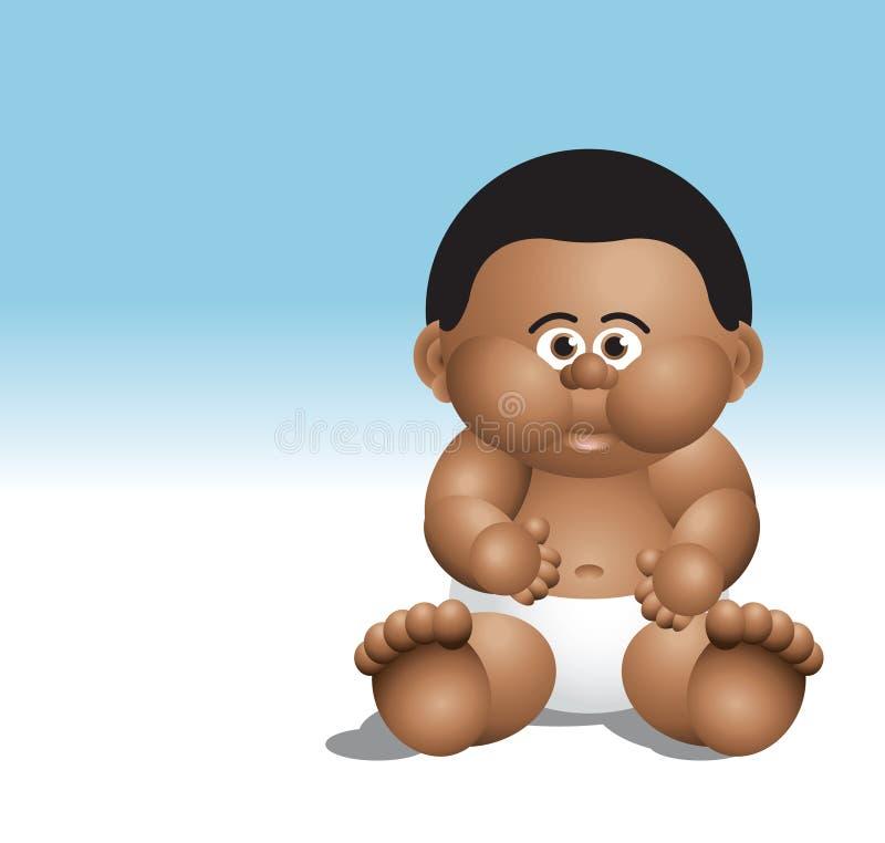 Seduta nera del neonato fotografia stock