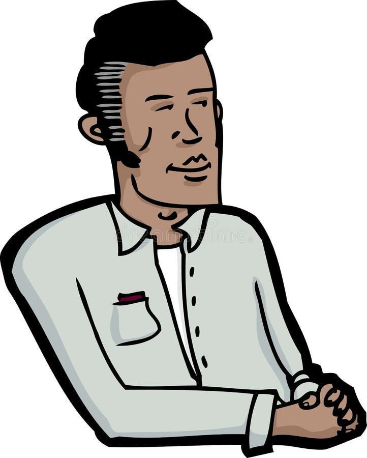 Seduta sorridente dell'uomo royalty illustrazione gratis