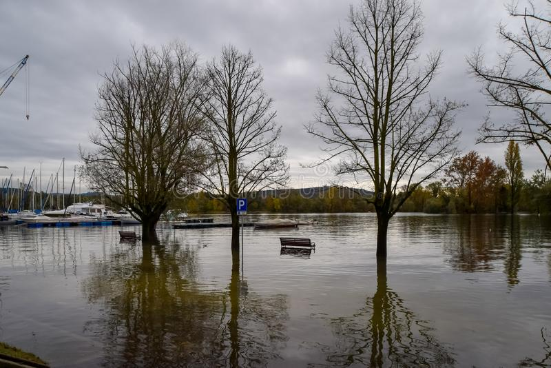 Seeüberschwemmung stockbild