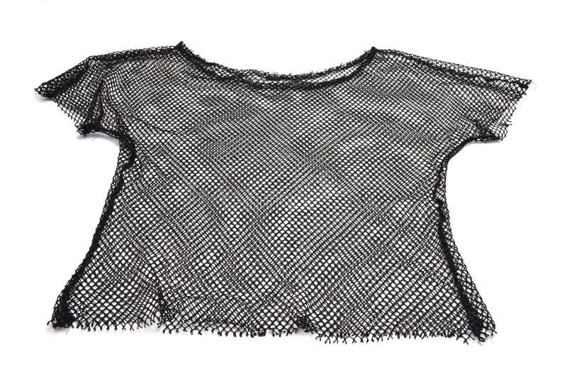 Black mesh shirt. A see through black men's mesh shirt stock photography