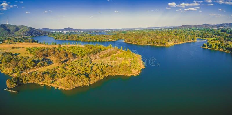 See Burley-Greif in Canberra, Australien stockbilder