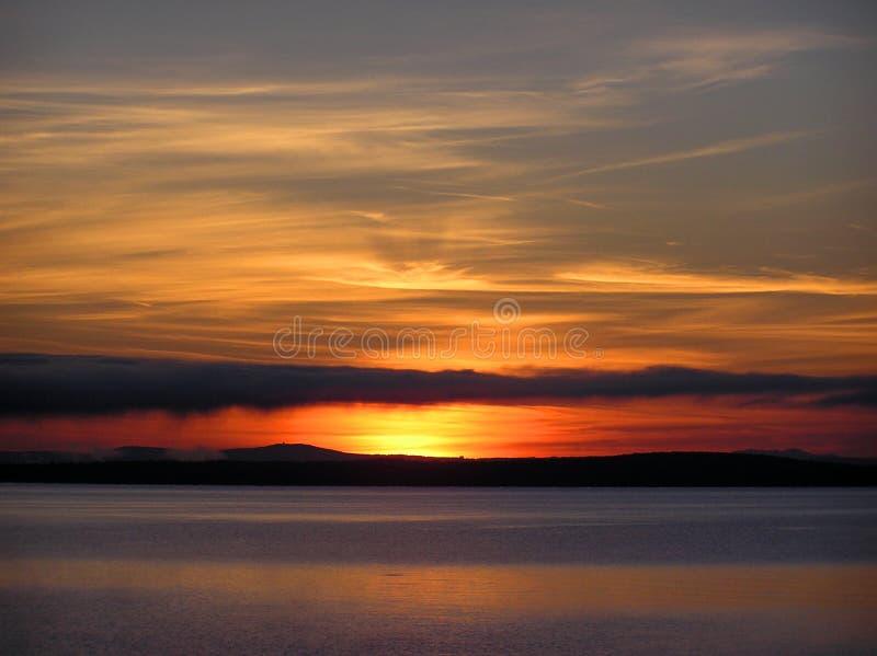 See Champlain Sonnenaufgang lizenzfreies stockfoto