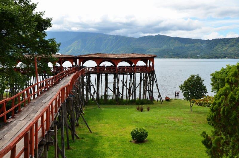 See Coatepeque, El Salvador lizenzfreie stockfotografie