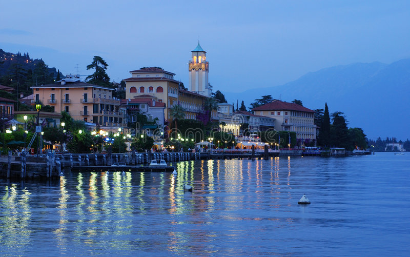 See Garda - Gardone-Riviera stockfotos