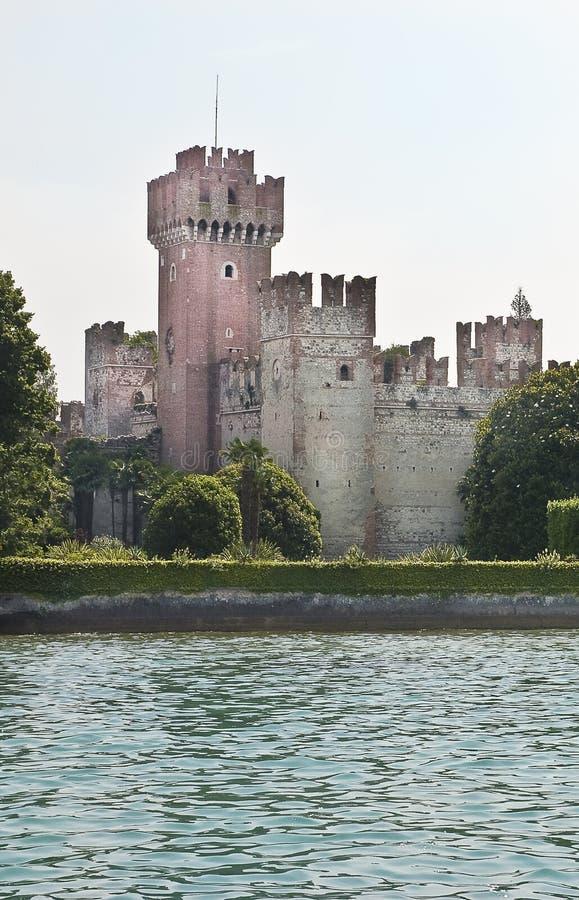 See Garda - Schloss von Lazise stockbild
