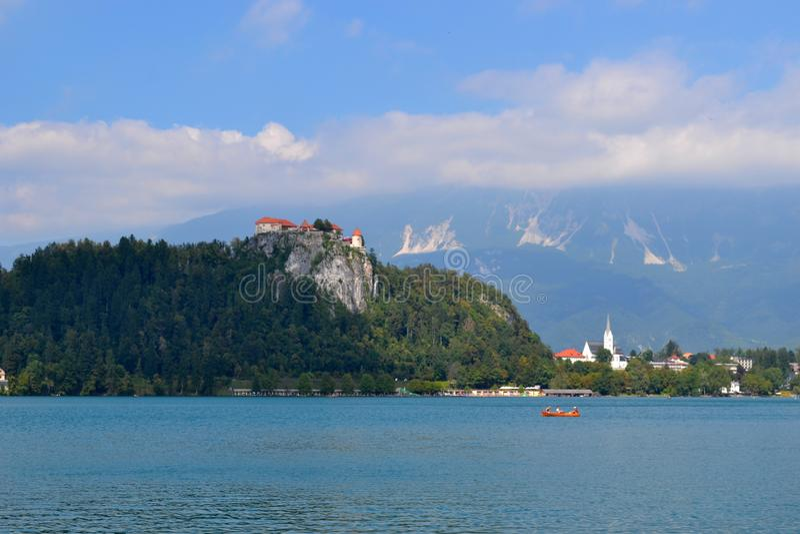 See geblutet, Slowenien stockfotografie