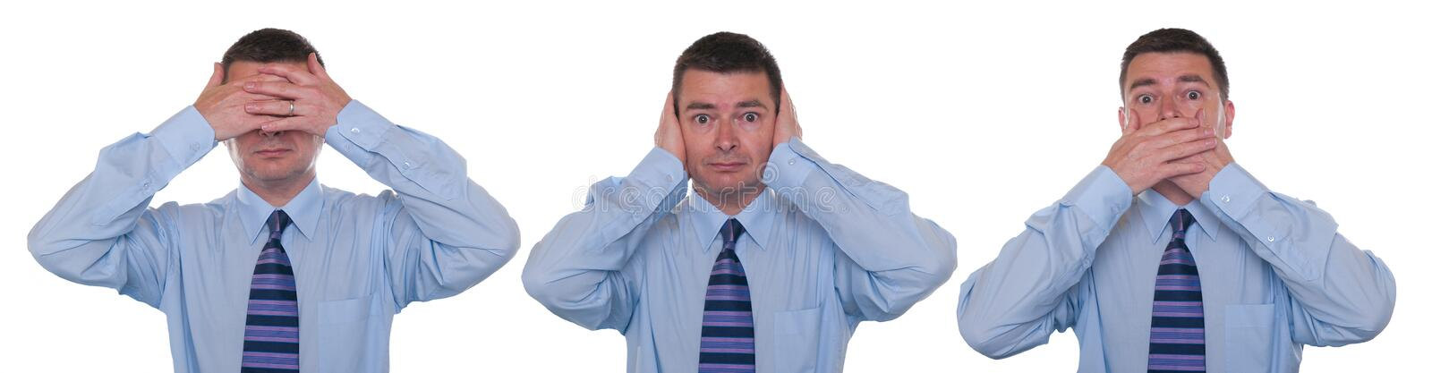 Download See, hear, speak no evil stock image. Image of photography - 16352803