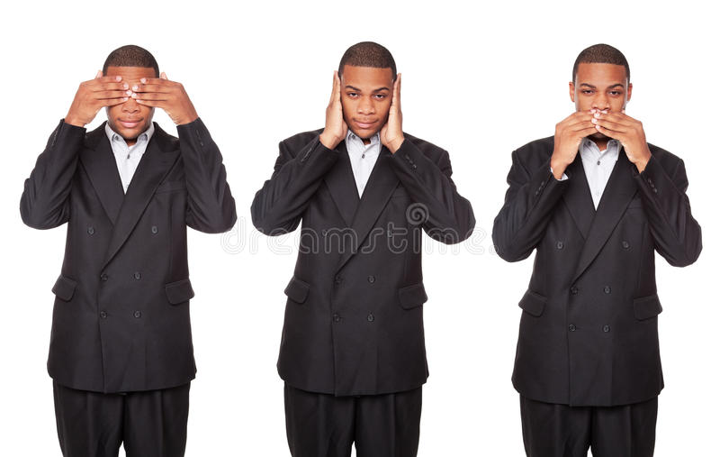 Download See Hear Speak No Evil - Businessman Stock Image - Image: 16464253