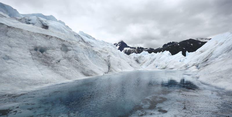 See im Mendenhall-Gletscher, Alaska lizenzfreie stockfotografie