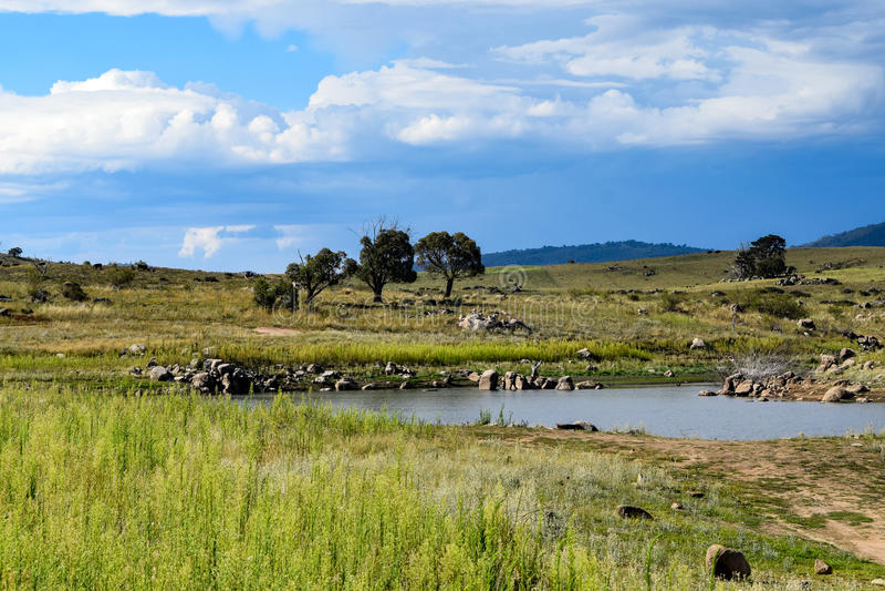 See Jindabyne-Küstenvorland in Australien lizenzfreie stockfotos