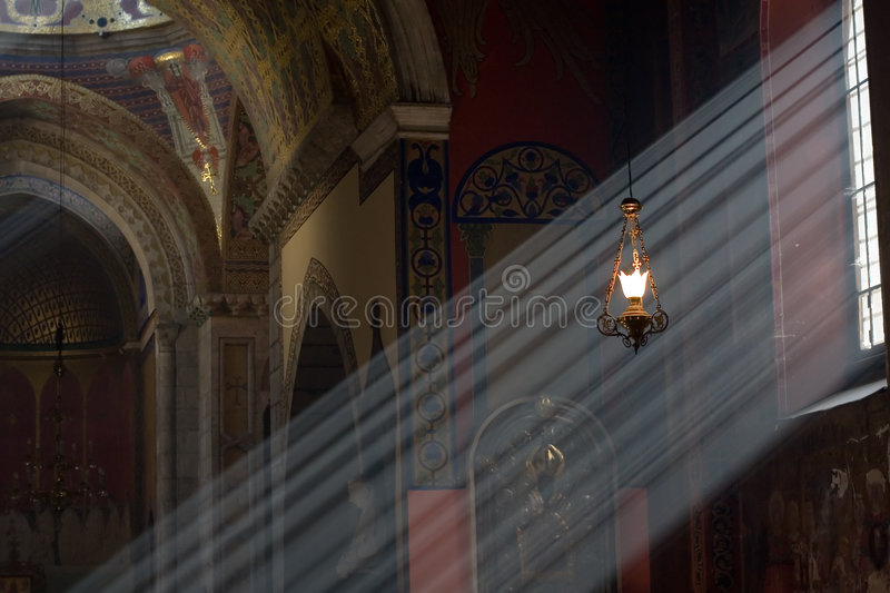 See the light. Armenian church in L'viv royalty free stock images