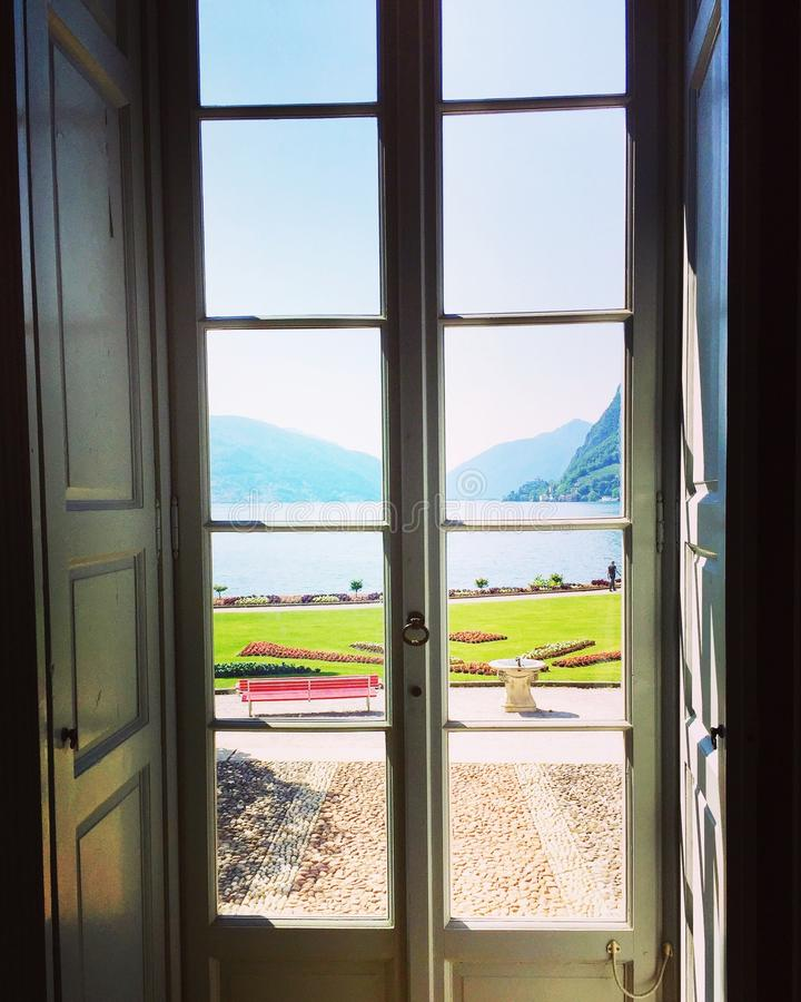 See Lugano vom Landhaus Ciani lizenzfreie stockfotografie