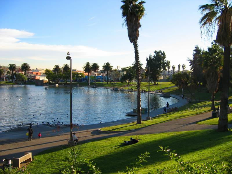 See Macarthur Park, Westlake, Los Angeles, Kalifornien, USA lizenzfreie stockfotografie