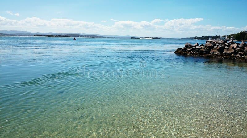 See Macquarie-Ansicht-@ Pelikan Australien stockbild