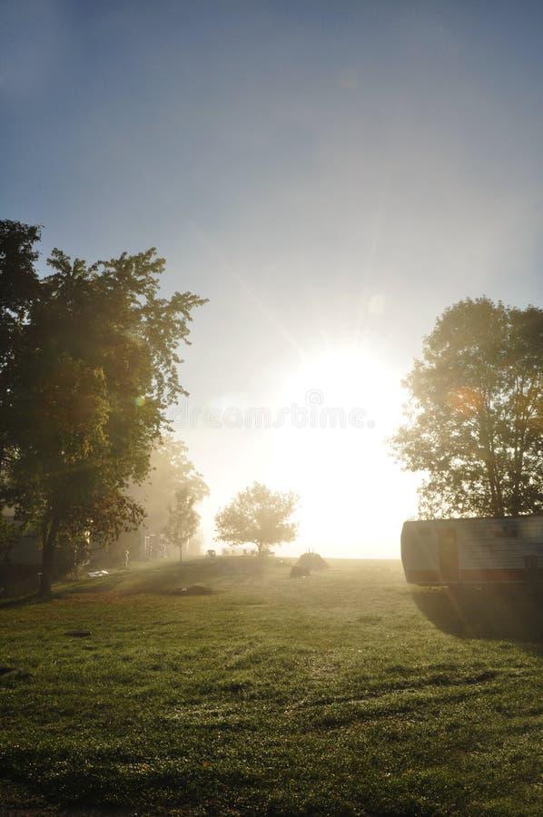 See marie Campingplatz stockbild