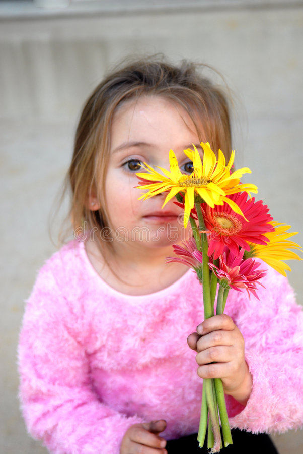 Download See My Flowers stock photo. Image of happiness, female - 1417882