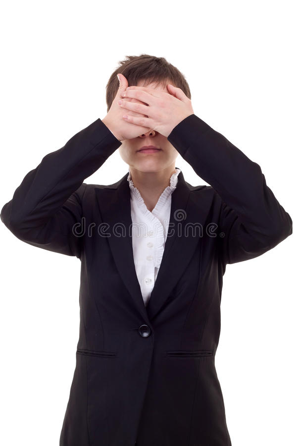 Download See No Evil stock image. Image of attractive, dressed - 16586901