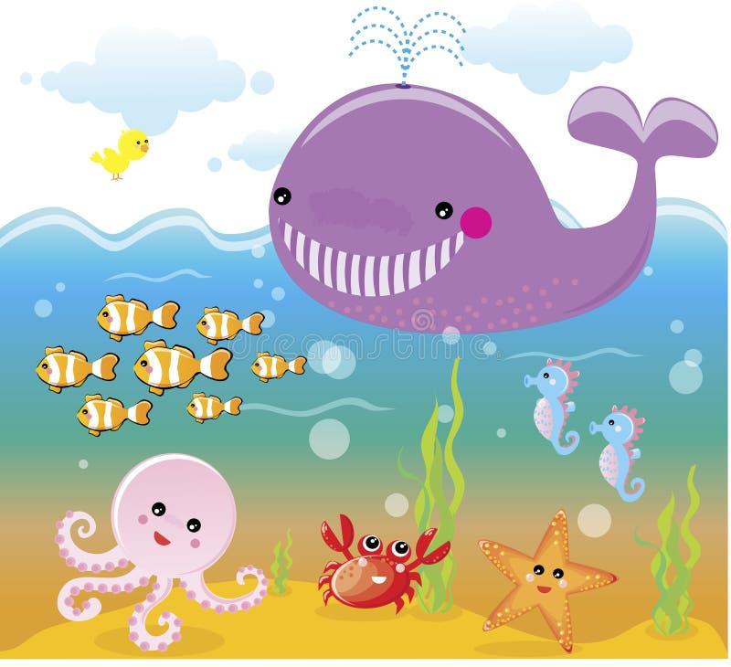 See-/Ozeanleben - Unterwasser vektor abbildung