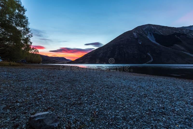 See Pearson Arthurs Durchlauf Nationalpark, Neuseeland lizenzfreie stockfotografie