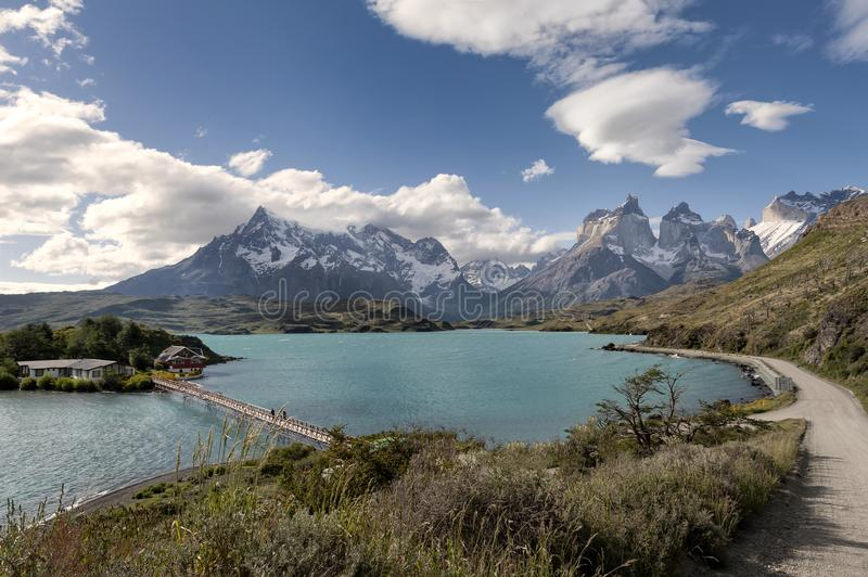See Pehoe, Torres Del Paine National Park, Patagonia, Chile lizenzfreies stockfoto