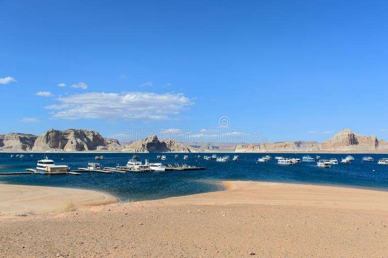 See Powell in der Wüste von Arizona, Vereinigte Staaten lizenzfreie stockfotos