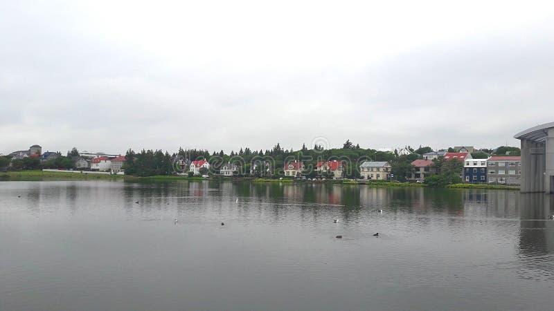 See in Reykjavik stockbilder
