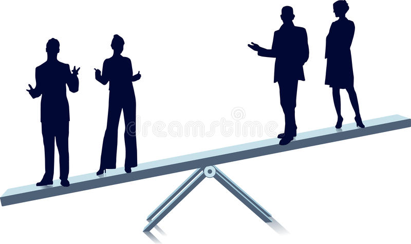 Download See-saw stock vector. Image of competition, balance, libra - 11648680
