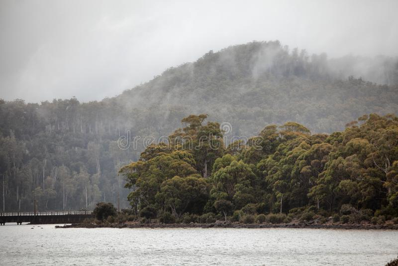 See-St Clair Tasmania stockfoto