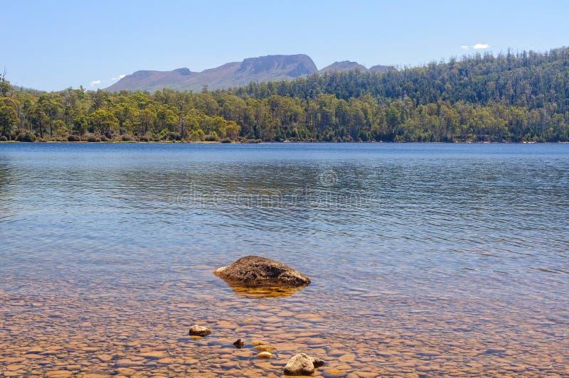 See-St. Clair - Tasmanien lizenzfreie stockfotos