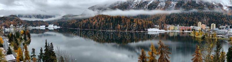 See St Moritz im Herbst lizenzfreie stockbilder