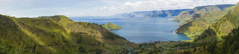 See Toba oder danau Toba in Indonesien stockfotografie