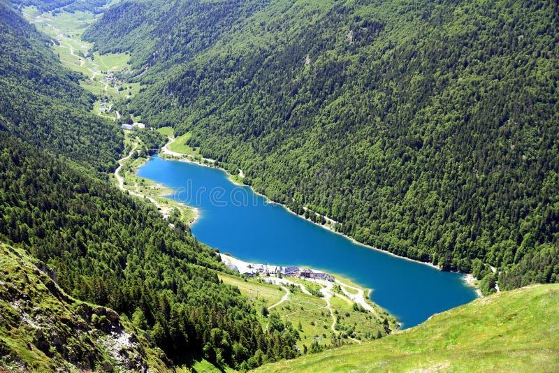 See von Artouste in den französischen Pyrenäen lizenzfreies stockbild