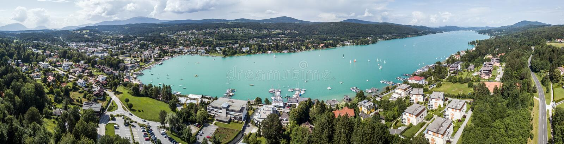 See Wörthersee in Österreich lizenzfreie stockfotos