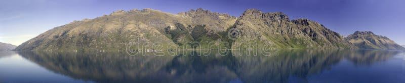 See Wakatipu, Queenstown, Neuseeland stockfoto